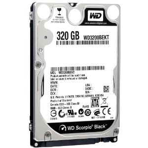 WD 320GB SATA Laptop HD (Black)